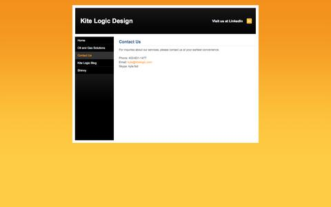 Screenshot of Contact Page kitelogic.com - Contact Us - Kite Logic Design - captured Oct. 17, 2017