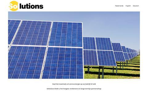 Screenshot of Home Page sollutions.nl - Sollutions | Maximale uit zonne-energie op uw bedrijf of veld - Sollutions - captured Sept. 21, 2018