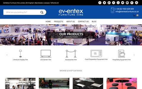Screenshot of Products Page eventexfurniture.co.uk - shop - captured Dec. 15, 2018