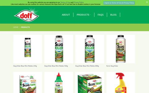 Screenshot of Products Page doff.co.uk - Products – Doff Portland Limited - captured Oct. 9, 2018