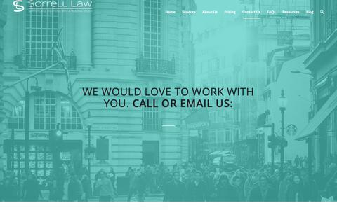 Screenshot of Contact Page sorrelllawfirm.com - Contact Us - Sorrell Law Firm - captured Oct. 20, 2018
