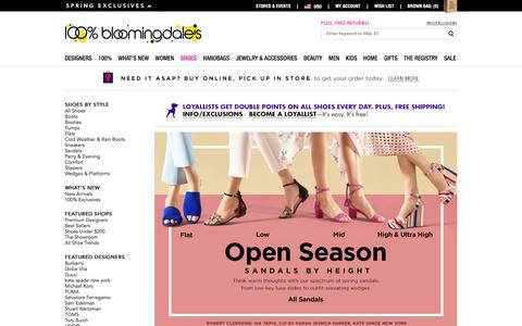Women's Designer Shoes: Flats, Booties & More - Bloomingdale's
