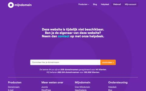 Screenshot of Home Page alpha-m.nl - Mijndomein - captured May 27, 2017