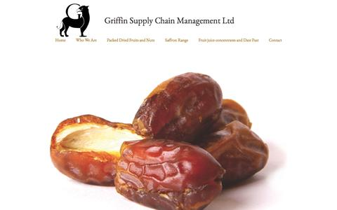 Screenshot of Home Page griffinscm.com - Griffin Supply Chain Management, Griffinscm, Persian trader, Griffin - captured Oct. 3, 2014