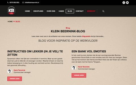 Screenshot of Blog kleinbeernink.nl - Blog - Lees wat ons bezighoud op de blog-pagina Klein Beernink - captured Aug. 9, 2016