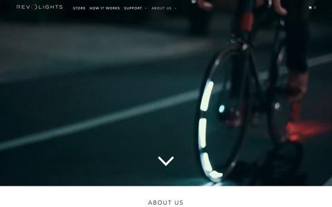Screenshot of About Page revolights.com - About Us - Revolights - Bike Lights - captured Dec. 15, 2015