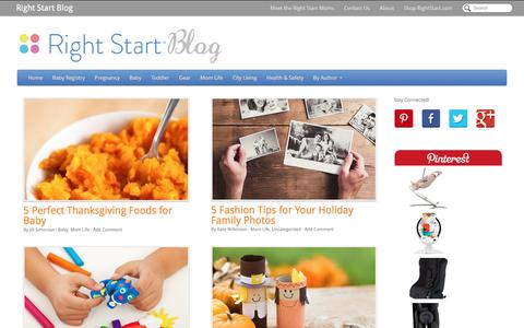 Screenshot of Blog rightstart.com - Right Start Blog - Starting Your Baby Off Right - captured Nov. 24, 2016