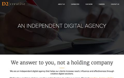 Screenshot of About Page d2creative.com - Independent Digital Agency in New Jersey - captured Jan. 7, 2016