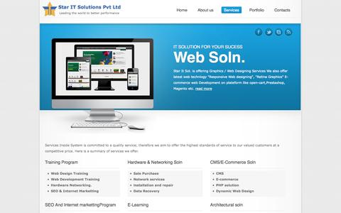 Screenshot of Services Page staritsol.com - Star It sol | Web Designing/E-commerce Site - captured Oct. 6, 2014