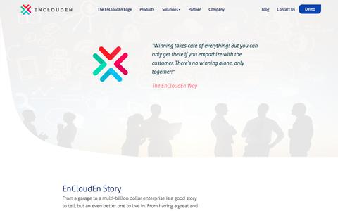 Screenshot of About Page Team Page enclouden.com - Company - captured July 19, 2018