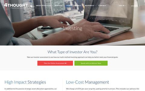 Screenshot of Services Page 4tfg.com - Investing Services - captured Nov. 13, 2017