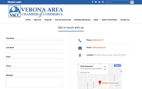Screenshot of Contact Page veronawi.com - Contact - captured Oct. 18, 2018