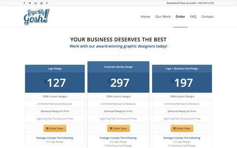 Screenshot of Pricing Page logomygosh.com - Pricing | Logo My Gosh - captured Sept. 30, 2014
