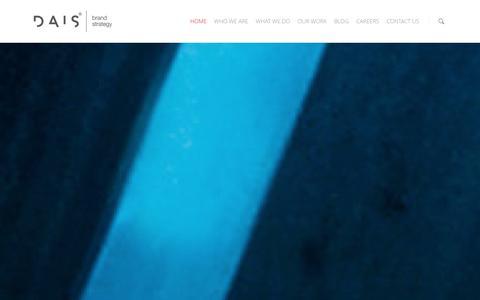 Screenshot of Home Page dais.com.au - DAIS | Brand Strategy - captured Jan. 7, 2016