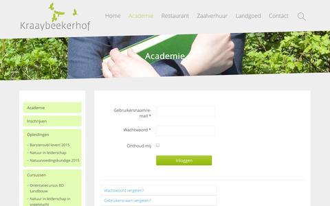 Screenshot of Login Page kraaybeekerhof.nl - Login - Kraaybeekerhof - captured Nov. 1, 2014