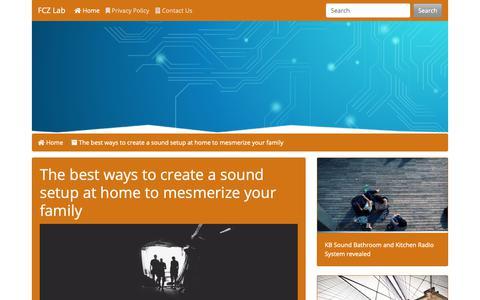 Screenshot of Home Page fcz-lab.com - FCZ Lab - captured Nov. 30, 2018