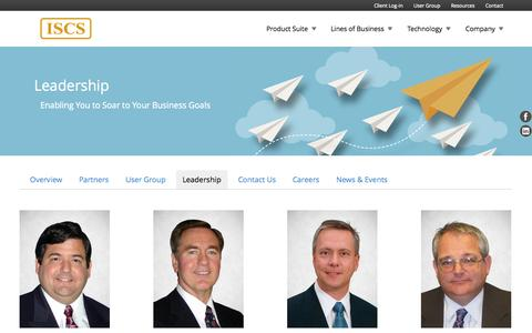 Screenshot of Team Page iscs.com - Trusted Insurance Experts, ISCS Management - captured Sept. 19, 2014
