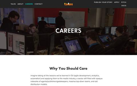 Screenshot of Jobs Page fablelabs.com - Careers — FableLabs - captured Aug. 12, 2018