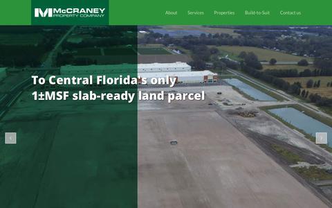 Screenshot of Home Page mccraneyproperty.com - Home - McCraney Property Company - captured Oct. 2, 2018