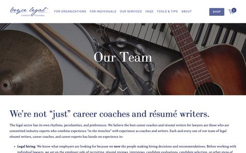 "Screenshot of Team Page brycelegal.com - We're not ""just"" career coaches and résumé writers. — BryceLegal.com - captured Oct. 6, 2018"