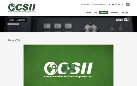 Screenshot of About Page csii.net - Welcome to CSII - About Our Company - captured Sept. 25, 2018