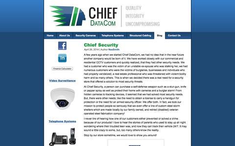 Screenshot of Blog chiefdatacom.com - Blog | Chief DataCom - captured Sept. 29, 2014