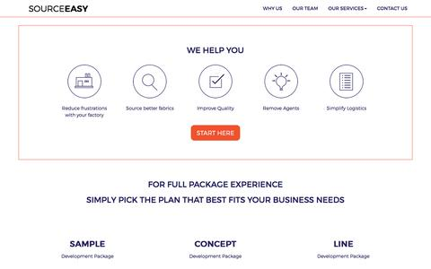 Screenshot of Services Page sourceeasy.com - Bring your vision to life. | Sourceeasy - captured April 19, 2016