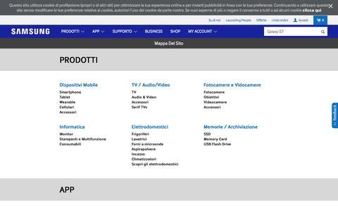 Screenshot of Site Map Page samsung.com - Mappa Del Sito | Samsung IT - captured April 8, 2016