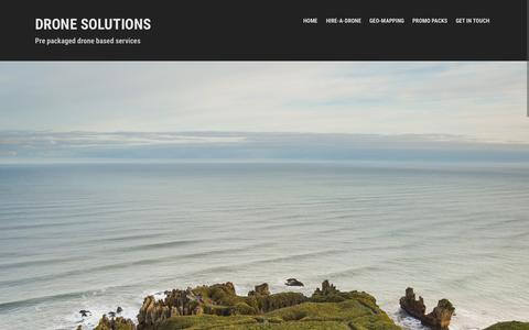 Screenshot of Home Page dronesolutions.co.nz - Drone Solutions   Pre packaged drone based services - captured Sept. 13, 2015
