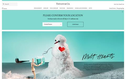 Screenshot of Home Page tiffany.com - Tiffany & Co. Official | Luxury Jewelry, Gifts & Accessories Since 1837 - captured Nov. 13, 2017