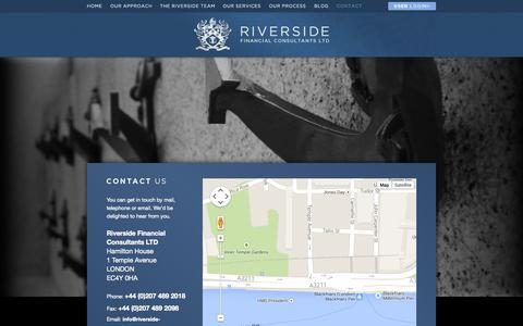 Screenshot of Contact Page riverside-consultants.com - Contact Us - Riverside Financial Consultants - captured Oct. 1, 2014
