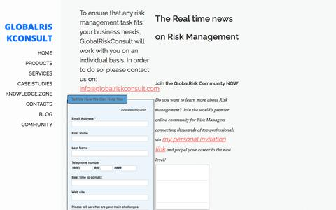 Screenshot of Press Page globalriskconsult.com - actual news, interviews, opinions - captured July 20, 2018