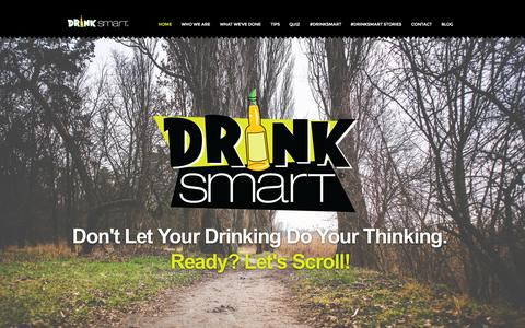 Screenshot of Home Page drinksmart.ca - DrinkSmart Inc - Promoting responsible drinking to post secondary students in Ontario - captured June 18, 2015