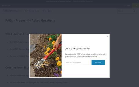 Screenshot of FAQ Page bluestonegarden.com - FAQs - Frequently Asked Questions - BlueStone Garden - captured Oct. 19, 2018