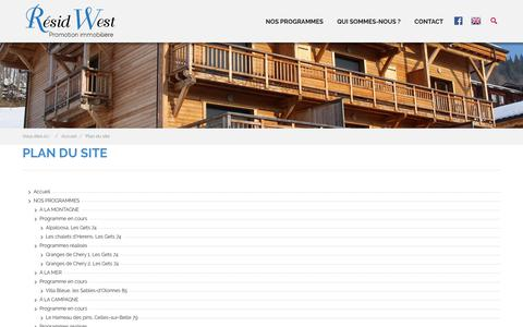 Screenshot of Site Map Page residwest-immobilier.fr - Plan du site - captured Oct. 18, 2018