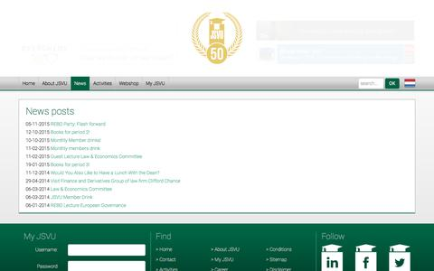 Screenshot of Press Page jsvu.nl - JSVU | News | Posts - captured Oct. 16, 2017