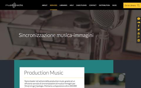 Screenshot of Services Page musicmedia.it - Musicmedia :: Services - captured Feb. 17, 2016