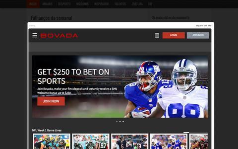 Screenshot of Home Page bligz.pt - Bligz - O melhor entretenimento online - captured Sept. 12, 2015