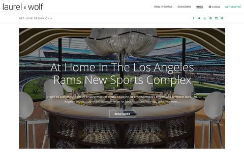 Screenshot of Blog laurelandwolf.com - Inside Laurel & Wolf - Interior Design and Style Blog - captured Feb. 4, 2016