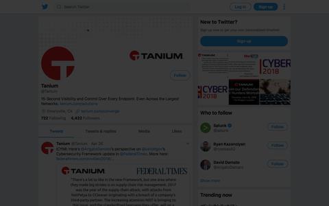Tweets by Tanium (@Tanium) – Twitter