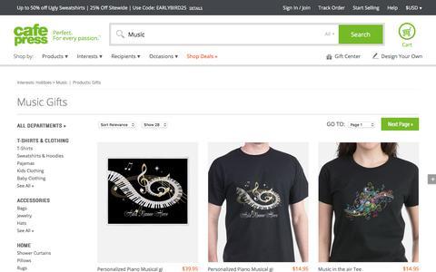 Music Gifts & Merchandise   Music Gift Ideas & Apparel - CafePress