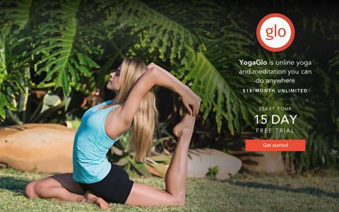 Screenshot of Trial Page yogaglo.com - YogaGlo - captured Feb. 6, 2017