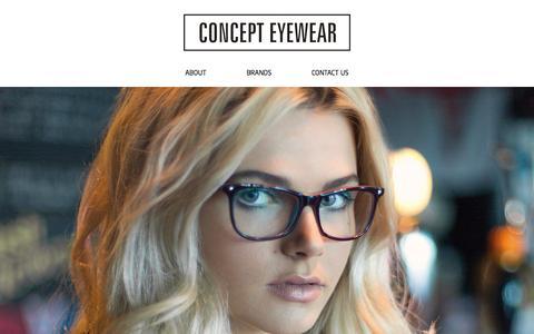 Screenshot of Home Page concepteyewear.co.uk - Home - Concept Eyewear - captured Sept. 30, 2014