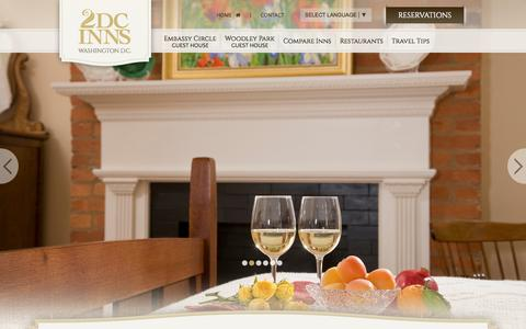 Screenshot of Contact Page dcinns.com - Boutique Hotels in Washington DC :: Two Top Rated Beautiful Hotels - captured Nov. 5, 2014