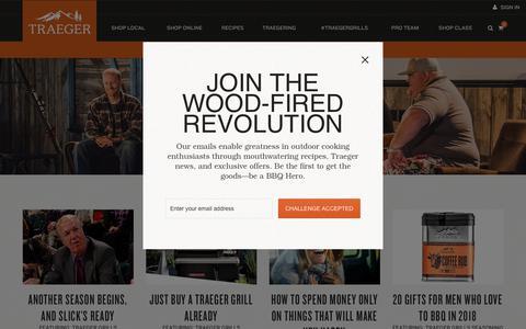 Screenshot of Press Page traegergrills.com - Traeger Press | Traeger Wood Fired Grills - captured Nov. 2, 2018