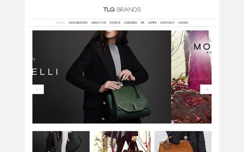 Screenshot of Home Page tlgbrands.com - Home : TLG Brands - captured Sept. 30, 2014