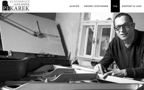 Screenshot of FAQ Page tasteninstrumente.at - FAQ – Klavierhaus Alexander Pekarek - captured March 30, 2017