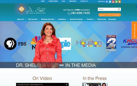Screenshot of Press Page drshel.com - Wellness News & Trends | Dr. Shel Wellness Spa Sugar Land - captured Feb. 9, 2016