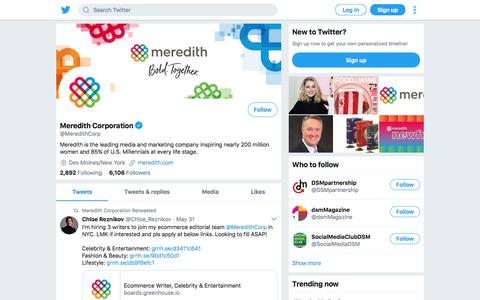 Tweets by Meredith Corporation (@MeredithCorp) – Twitter