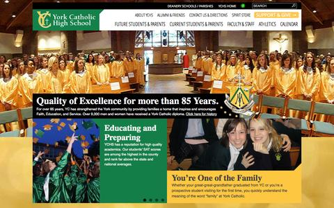Screenshot of Home Page yorkcatholic.org captured Oct. 7, 2014